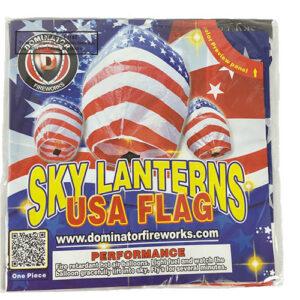 Sky Lanterns – Usa Flag